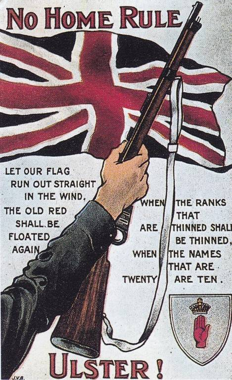 Ulster Unionist anti Home Rule poster 1914