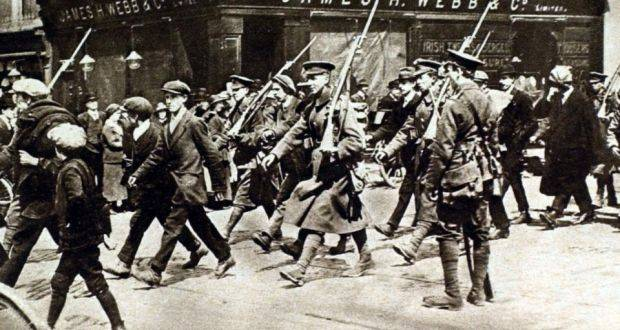Prisoners marched through Dublin, May 1916.